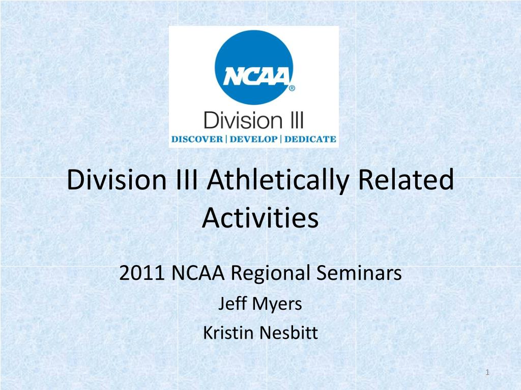 division iii athletically related activities l.
