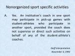 nonorganized sport specific activities20