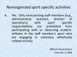 nonorganized sport specific activities22