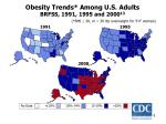 obesity trends among u s adults brfss 1991 1995 and 2000 13