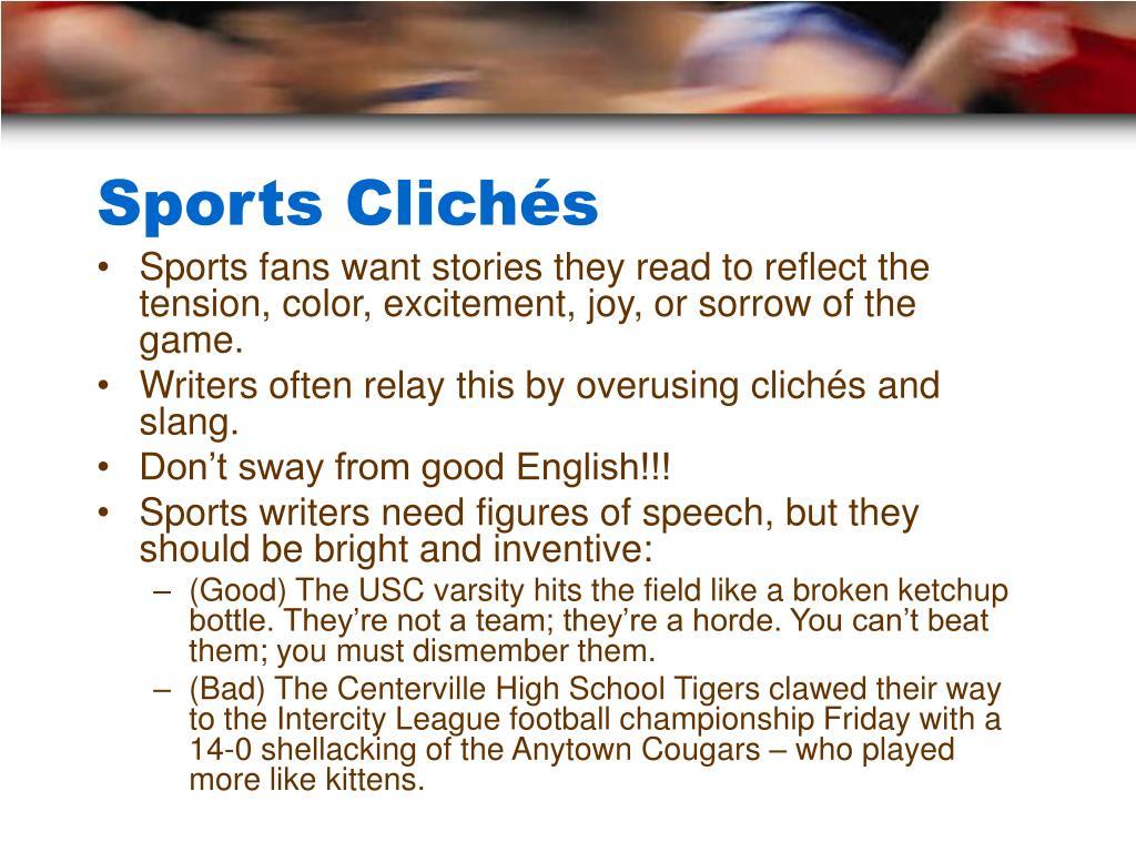 Sports Clichés