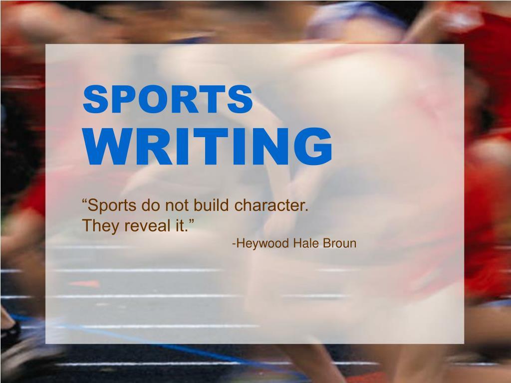 sports writing l.