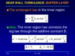 near wall turbulence buffer layer