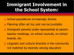 immigrant involvement in the school system