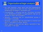 organisational legal analysis