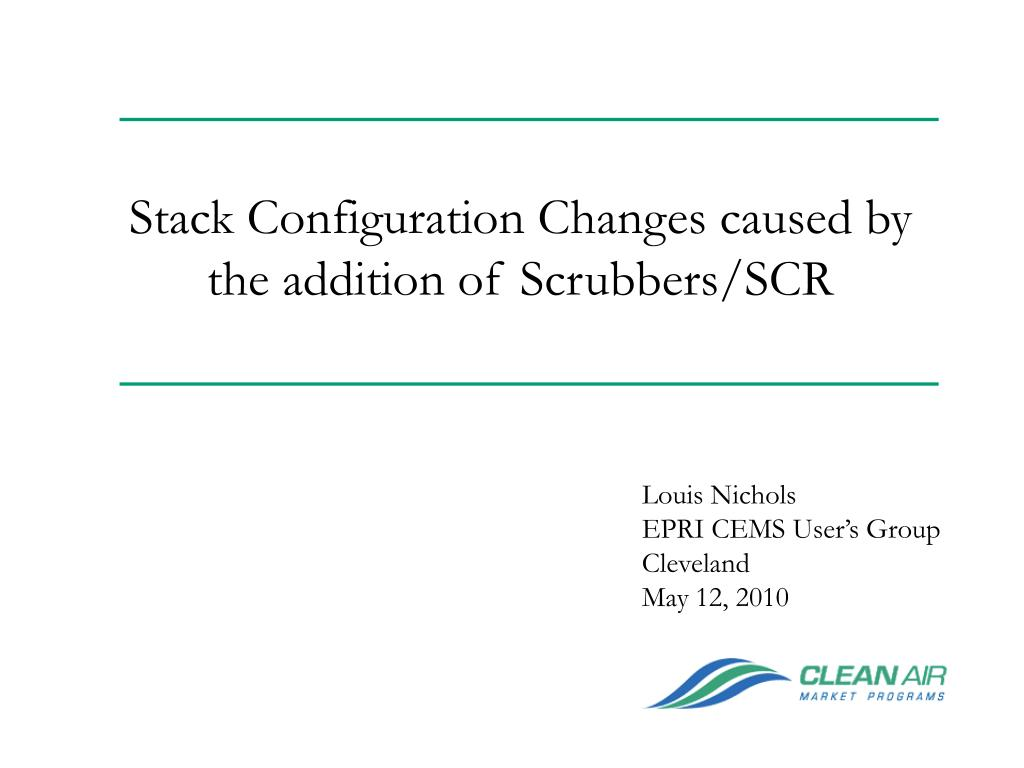 stack configuration changes caused by the addition of scrubbers scr l.