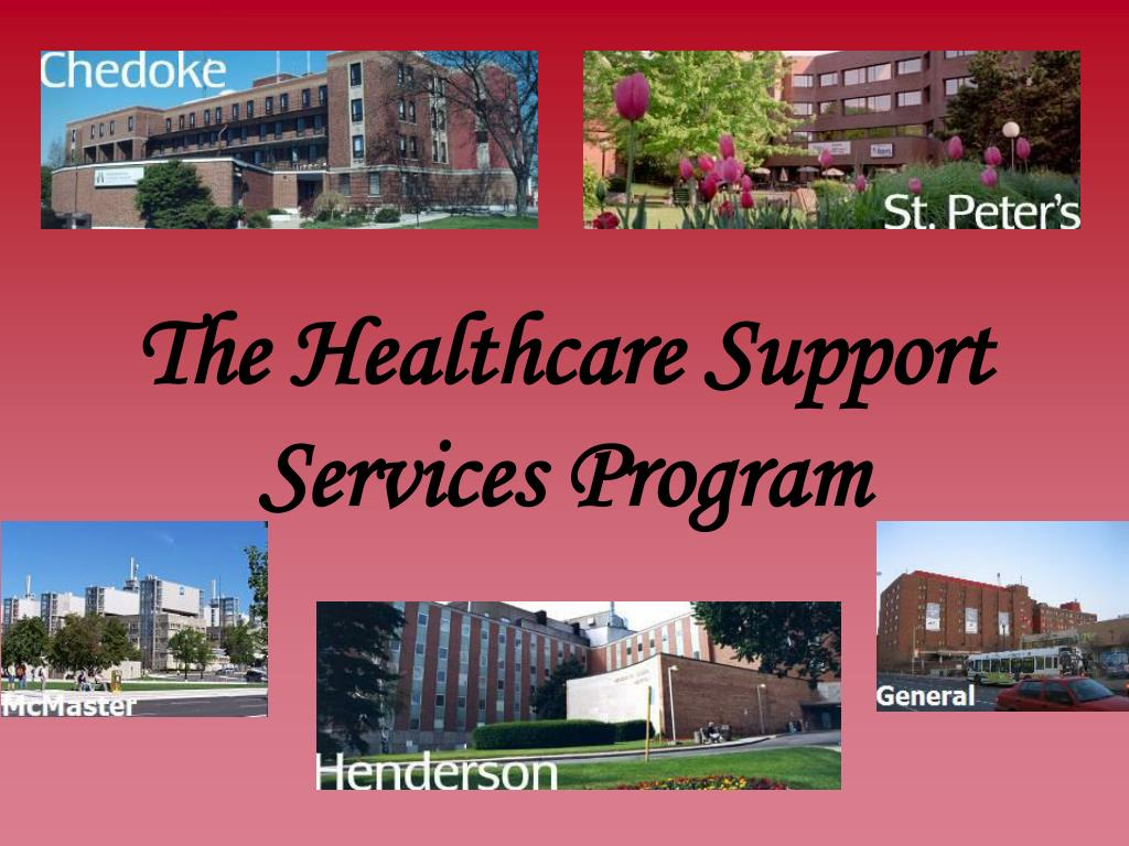 the healthcare support services program l.