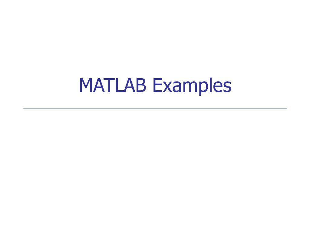 matlab examples l.