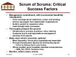 scrum of scrums critical success factors