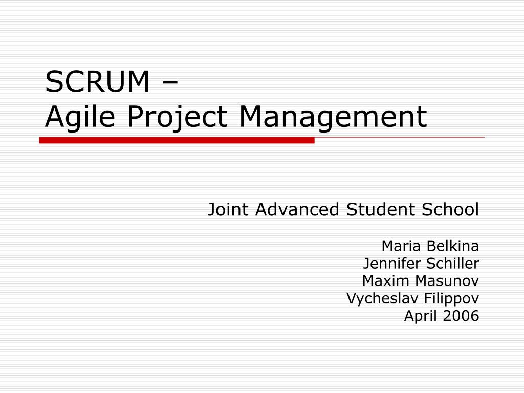 scrum agile project management l.