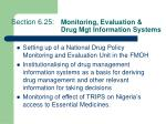 section 6 25 monitoring evaluation drug mgt information systems
