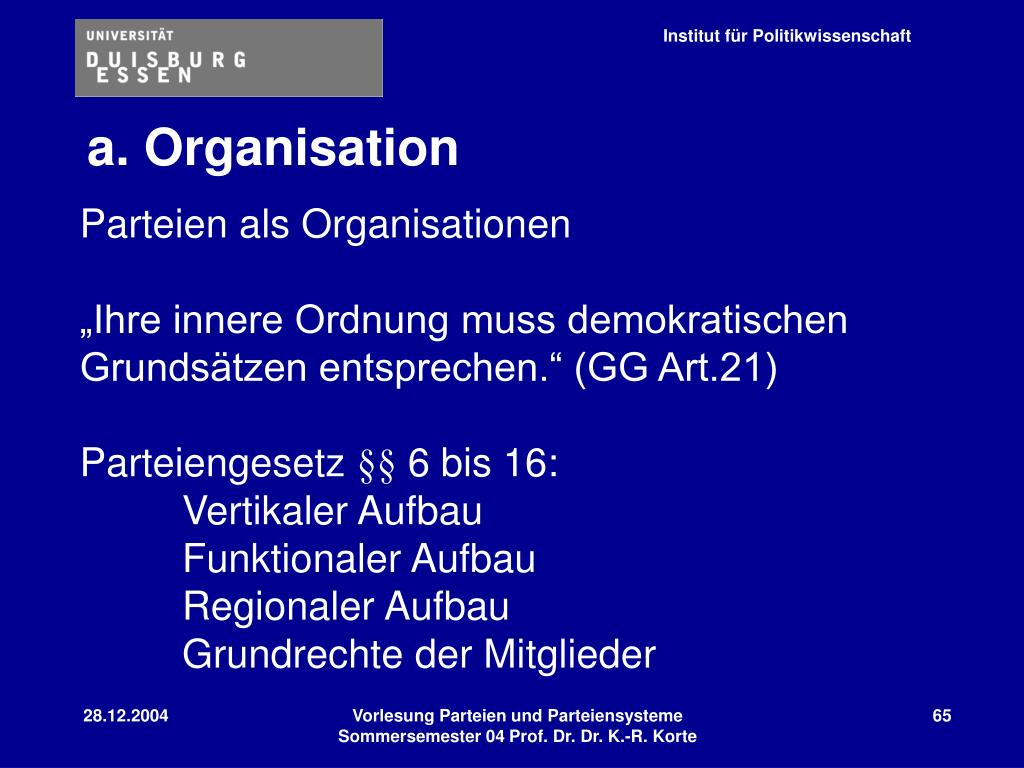 a. Organisation