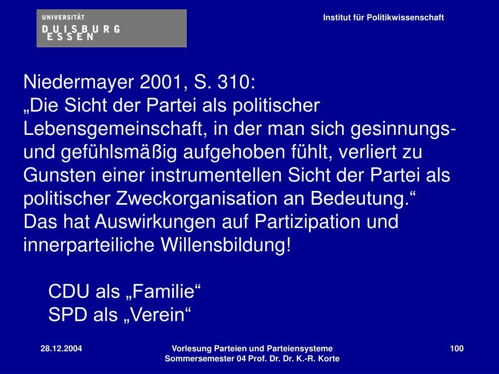 Niedermayer 2001, S. 310: