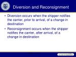 diversion and reconsignment