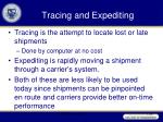 tracing and expediting