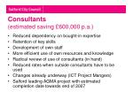 consultants estimated saving 600 000 p a