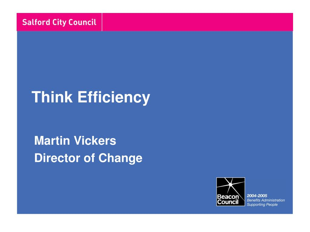 think efficiency l.