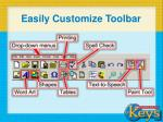 easily customize toolbar