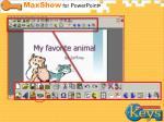 maxshow toolbar
