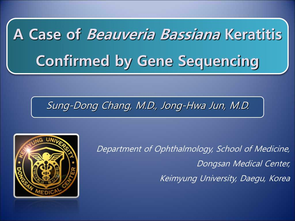 a case of beauveria bassiana keratitis confirmed by gene sequencing l.