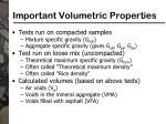 important volumetric properties