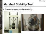 marshall stability test