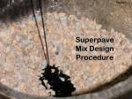 superpave mix design procedure