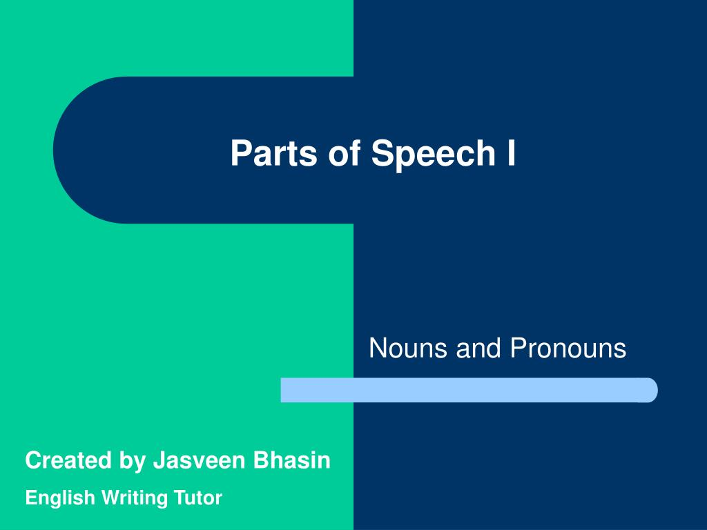 parts of speech i l.