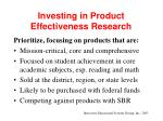 investing in product effectiveness research9