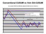 conventional cusum vs vein da cusum