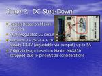 stage 2 dc step down