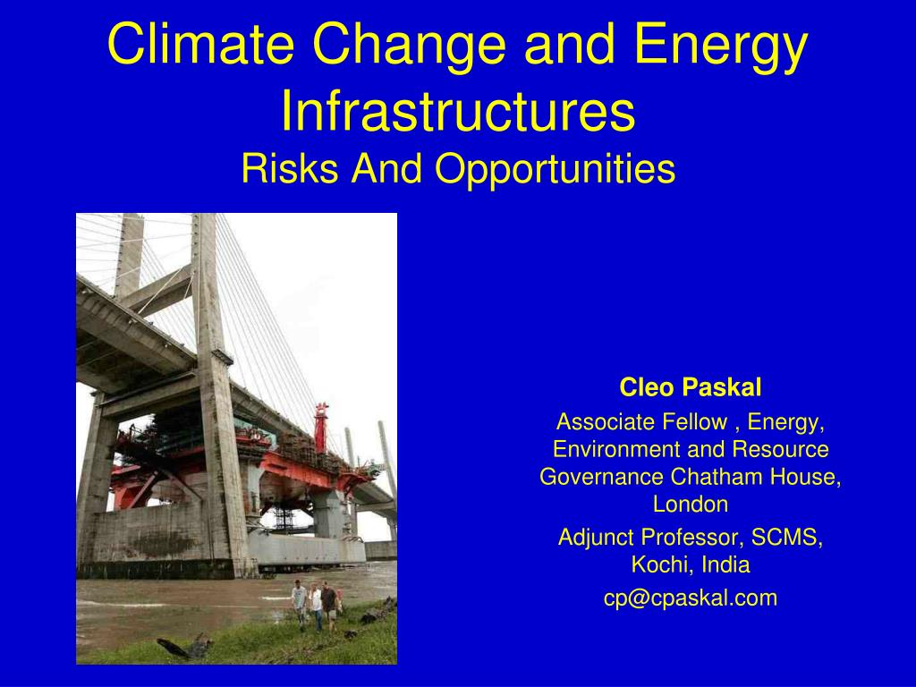 climate change and energy infrastructures risks and opportunities l.