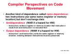 compiler perspectives on code movement17