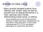 activities for daily living