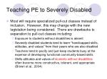 teaching pe to severely disabled