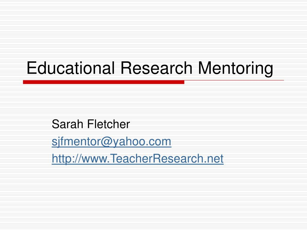 educational research mentoring l.