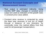 national account concepts and measurement issues