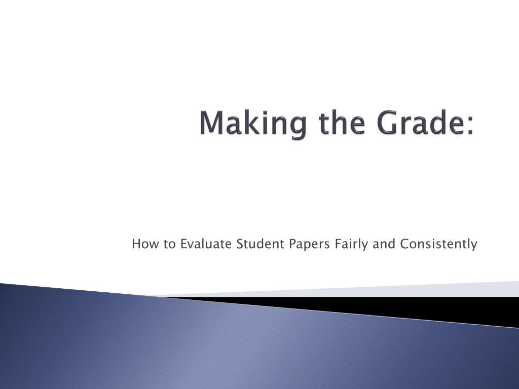 making the grade l.