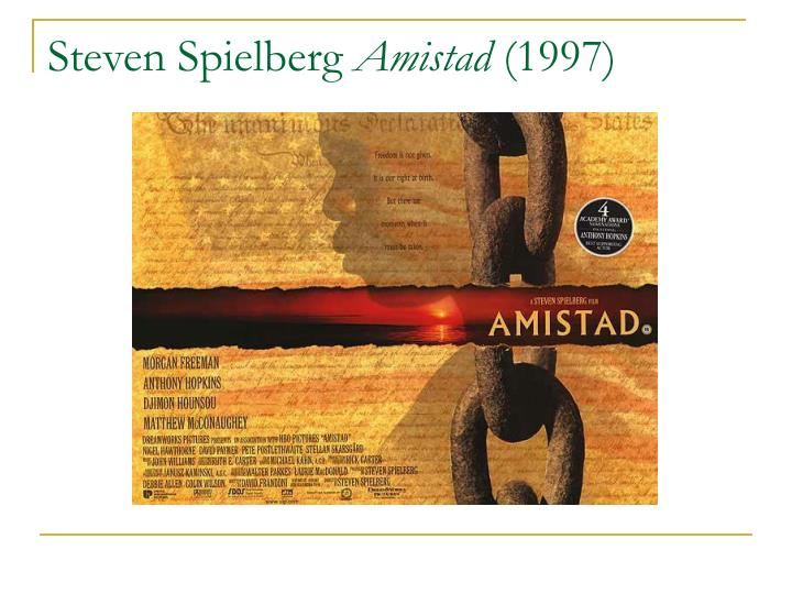 a review of steven spielbergs amistad Review: steven spielberg's 'the post' is something something by kristy puchko amistad, schindler's list.