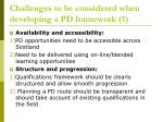challenges to be considered when developing a pd framework 1