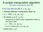 a simple manipulation algorithm conitzer sandholm aaai 06
