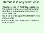 hardness is only worst case