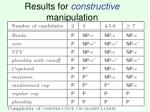 results for constructive manipulation
