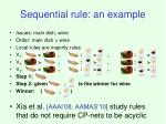 sequential rule an example