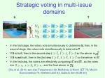 strategic voting in multi issue domains