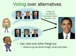 voting over alternatives