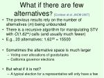 what if there are few alternatives conitzer et al jacm 2007