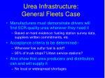 urea infrastructure general fleets case