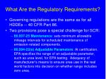 what are the regulatory requirements