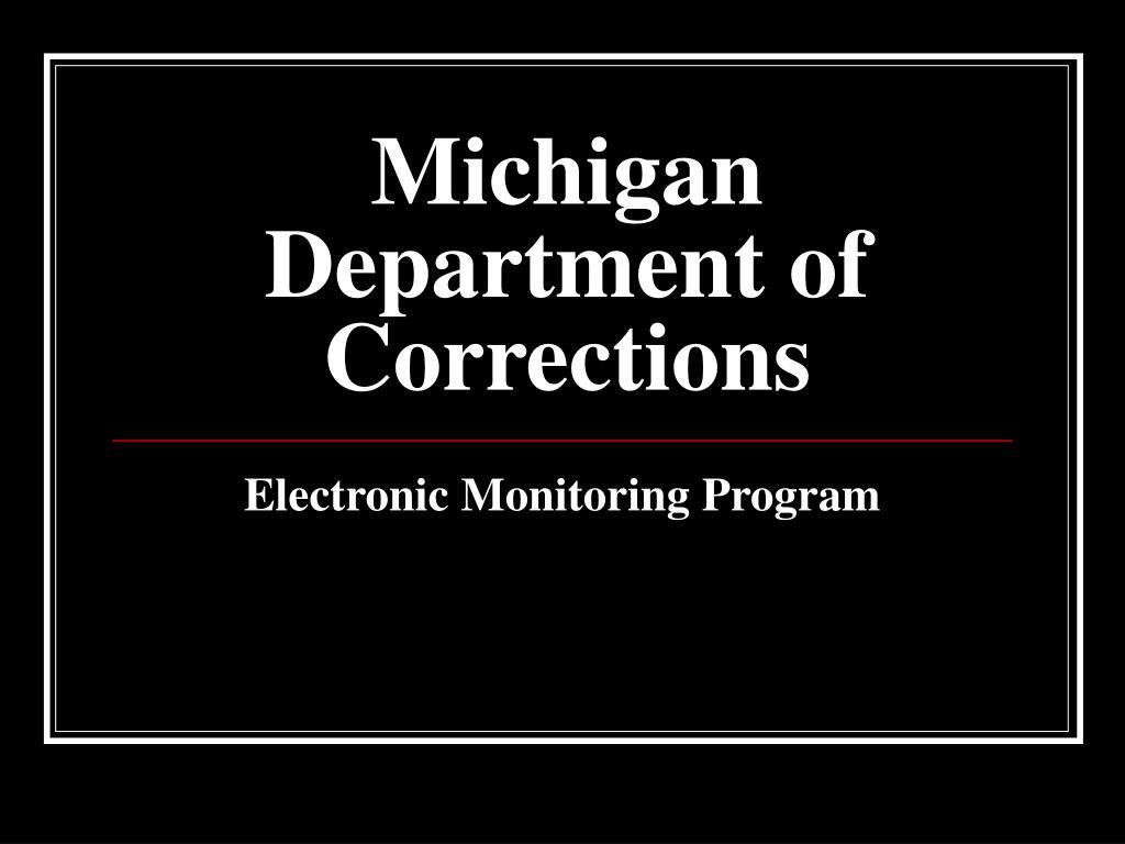 michigan department of corrections l.
